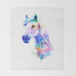 Horse Watercolor, Horse Print, Watercolor Print, Watercolor Animal, Horse Painting, Horse Gift Print Throw Blanket