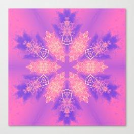 Alien pink snowflake Canvas Print