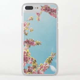 Cherry Blossom Delight Clear iPhone Case