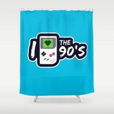 I Heart the 90's Shower Curtain