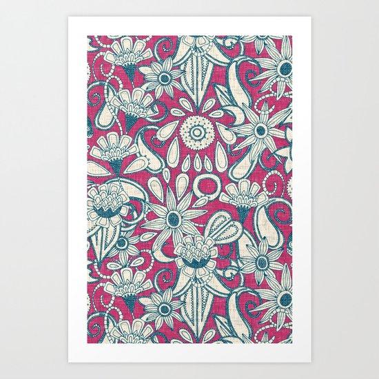 sarilmak pink blue Art Print