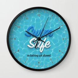 Swim Safe Wall Clock