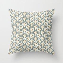 Art Deco Gold Fans Throw Pillow