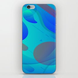 Purple Blue And Green Abstract Design iPhone Skin