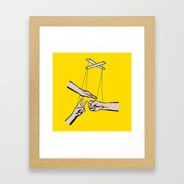 Rock, Paper, Scissors Framed Art Print
