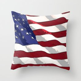 Fancy Flag:  USA 3 Throw Pillow