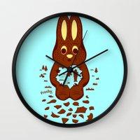 hunting Wall Clocks featuring Chocolate Hunting by Matt Wasser