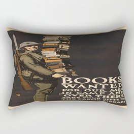 Vintage poster - Books Wanted Rectangular Pillow