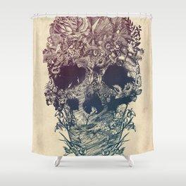 Skull Floral Shower Curtain
