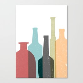 BOTTLES poster Canvas Print