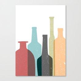 BOTTLES poster Canvas Print