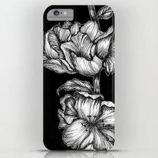 Black Floral Ink Slim Case iPhone 6 Plus