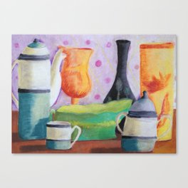 Bottlescape II, Abstract Alice in Wonderland Party Canvas Print