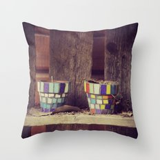 Lonesome Colorfuls Throw Pillow
