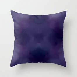Deep Violet Tie Dye Throw Pillow