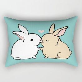 Bunny Kisses Rectangular Pillow