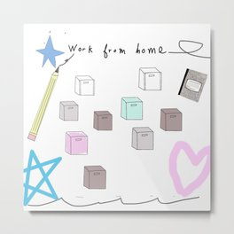 work from home 3 Metal Print