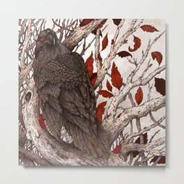 A Raven In Winter Metal Print