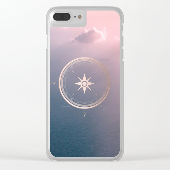 The Edge of Tomorrow - Rosegold Compass Clear iPhone Case