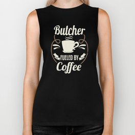 Butcher Fueled By Coffee Biker Tank