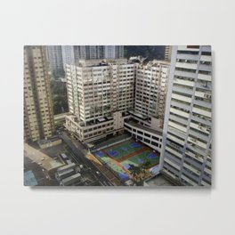 Outdoor Basketball Metal Print