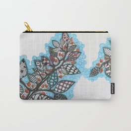 Colorful Patterned Leaves Carry-All Pouch