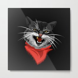 The Cat with a golden tooth Metal Print