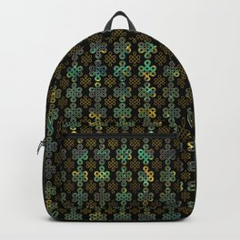 Endless Knot Pattern - Gold and Marble Backpack