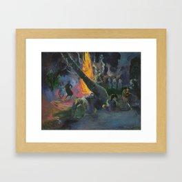 Upa Upa (The Fire Dance) by Paul Gauguin Framed Art Print