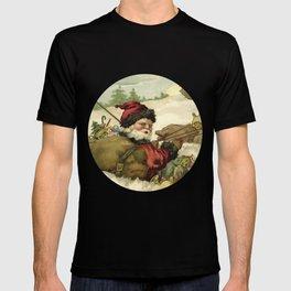 Vintage Santa Retro X-mas Illustration T-shirt