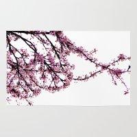 sakura Area & Throw Rugs featuring sakura by MILDA HE