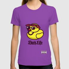 Duck Life Ultraviolet LARGE Womens Fitted Tee