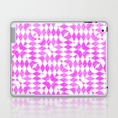 Pink And WHite abstract pattern Laptop & iPad Skin
