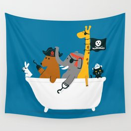 Everybody wants to be the pirate Wall Tapestry