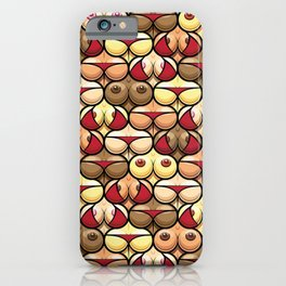 Funny and Sexy Tits and Bums Mix Seamless Pattern Design iPhone Case