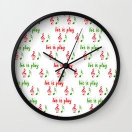 Let it play... Christmas music - Christmas Series Wall Clock