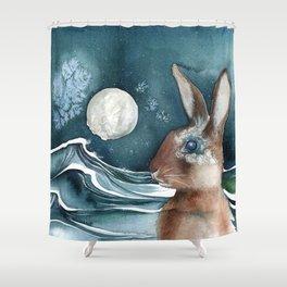 Barnacle Bunny Shower Curtain
