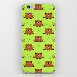 Adorable Groundhog Pattern iPhone Skin