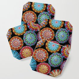Colorful Mandala painted stones Coaster