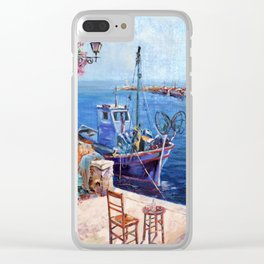 Morning at the Wharf Clear iPhone Case