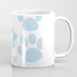 Puppy Paw Prints Blue Coffee Mug