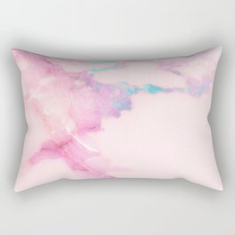 Pink Iridescent Vein Marble Rectangular Pillow