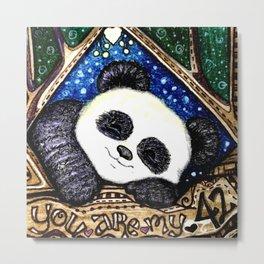 My Sleepy Panda 42 Metal Print