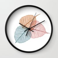 vegetable Wall Clocks featuring vegetable ribs by 1 monde à part