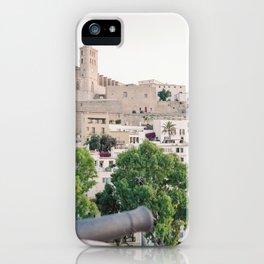 "Travel photography ""Old Town Dalt Vila"" | Modern wall art Ibiza Spain pastel tones photo iPhone Case"