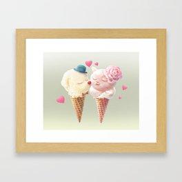 Ice Cream Love Framed Art Print