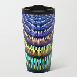 Colourful radiant abstract mandala Travel Mug