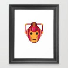 cyber iron man Framed Art Print