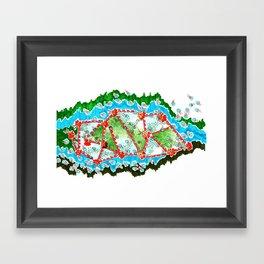 Blossom River  Framed Art Print