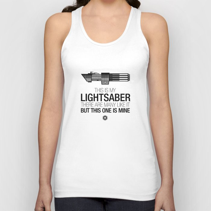 This is my Lightsaber (Vader Version) Unisex Tank Top